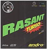 andro(アンドロ) 卓球 ラバー 回転テンション系 裏ソフトラバー ラザントターボ 112216 ブラック 1.7