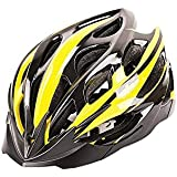Osize サイクリングヘルメットワンピースライディングヘルメットマウンテンバイクロードバイクヘルメット(黒と黄色)
