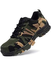 [ブルーポメロ] 安全靴 スニーカー 作業靴 メンズ レディース 鋼先芯 鋼製ミッドソール 軽量 通気 耐摩耗 衝撃吸収 男女兼用