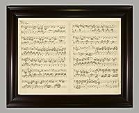 BiblioArt Series メンデルスゾーン自筆譜「無言歌作品85第3番(熱狂)」額装品