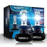 【NIGHTEYE正規品】 H4 9003 HB2 hi/lo 車検対応 車用led一体化LEDヘッドライト 50W(25Wx2) 8000LM(4000LMx2) 6500K クールホワイト 高輝度 車用ledヘッドライト - 3年保証