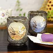 九谷焼 夫婦湯呑み はねうさぎ 陶器 和食器 湯呑み茶碗 日本製