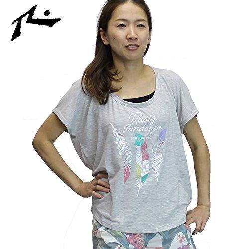 レディースRUSTYラッシュガードTシャツAQUATEE936632GRHMサイズ