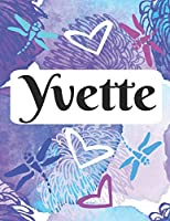 Yvette: Personalized Name Journal with Blank Lined Paper