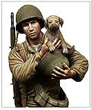 MJミニチュア 1/9 第二次世界大戦 アメリカ軍 歩兵 セービング・ザ・ドッグ レジンキット MJ09-013