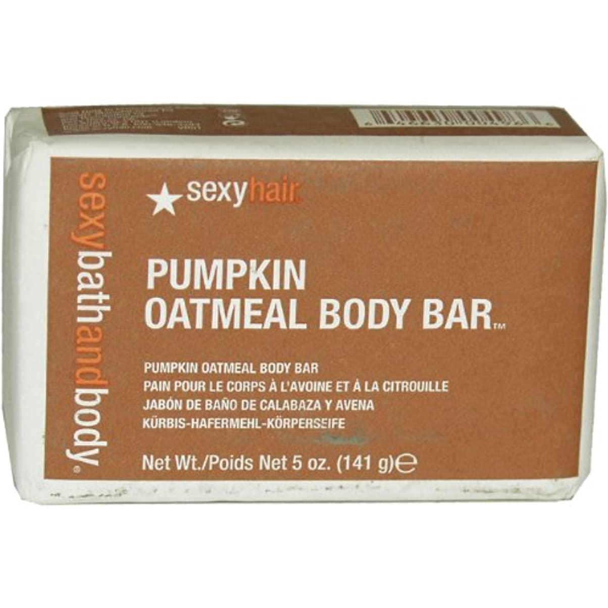 色合いアミューズ麦芽Healthy Sexy Hair Pumpkin Oatmeal Body Bar