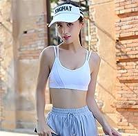 スポーツブラ女性パッド入り弾性通気性ワイヤレスハイインパクトヨガトップ取り外し可能なワークアウト屋内ランニング