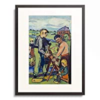 マックス・ベックマン Max Beckmann 「Dutch workers with a saw. 1940」 額装アート作品