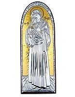 ゴールドシルバーカトリックOrthodox Virgin Mary w Christ Jesusアイコン