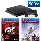 PlayStation 4 + グランツーリスモSPORT + Horizon Zero Dawn Complete Edition セット (ジェット・ブラック) (CUH-2200AB01)【特典】オリジナルカスタムテーマ(配信)