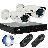 130万画素 屋外 防犯カメラ 2台 録画機 1TB セット ( 防水 防塵 動体検知 遠隔 暗視 ) SET-A105 [3年保証]