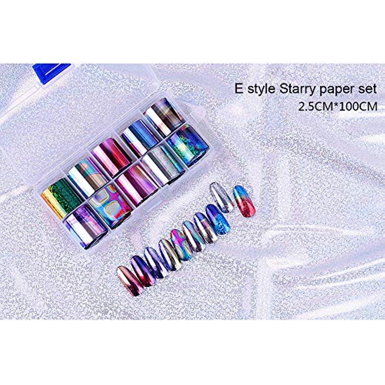 運河故意にファセットACHICOO ネイルアートステッカー 10個 ネイルアート チップネイル ステッカーデカール DIY アクセサリー E style star paper set