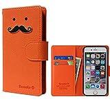 【ROCOCO】[Apple iPhone5s iPhone SE アップル iphone5s i-phone5s アイフォン5s アイホン5s アイフォン5 アイホンSE 共用 Diary Case] IPHONE5 手帳型 ケース IPHONE5 カバー 手帳 IPHONE5 レザーケース IPHONE5 スマホケース IPHONE5 ダイアリーケース IPHONE5s ケース 手帳型 IPHONE5s カバー手帳 IPHONE5s レザー ケース IPHONE5s スマホケース IPHONE5s ダイアリー ケース アイホン5s ケース 手帳型 アイフォン5s カバー 手帳 アイホン5 ケース 手帳 アイフォン5 カバー 手帳型 アイフォン アイホン 人気 かわいい おすすめ 丈夫 収納 カード入れ Diary キャラクター 携帯シンプル 手帳ケース アップル アイフォン いpほね5s 手帳型 ケース おしゃれ ブランド レディース Color キャラクター ヒゲ 人気デザイン ヒゲ かわいい ヒゲ キャラクター icカード入れ ★Orange★
