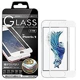 iPhone6s / iPhone6 (4.7インチ) 3D ガラスフィルム全面 保護 ソフトフレーム 飛散防止 9H 液晶ガラス 高透明 iPhone 6 対応 (ホワイト) 3D-I6-WHT217