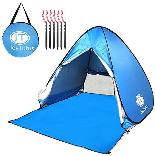 サンシェードテント 素材改良 ペグ改良 厚手 210D 海テント 公園テント UVカット フルクローズ ポップアップテント 耐久 日除け 2-3人用 防水 折りたたみ 軽量 コンパクト