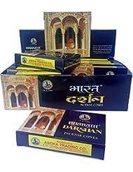 Bharath Darshan Cone Incense – 12ケースボックス、10コーン各
