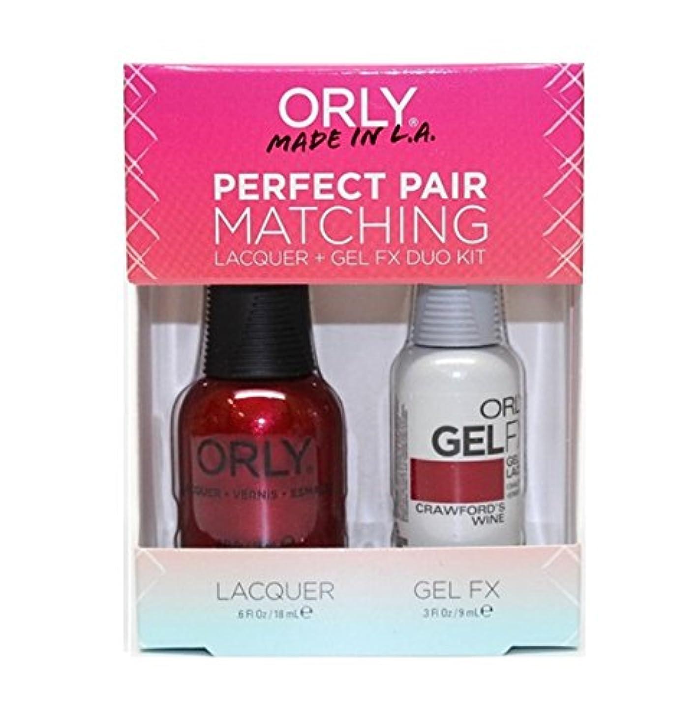 エンドウヶ月目変動するOrly - Perfect Pair Matching Lacquer+Gel FX Kit - Crawford's Wine - 0.6 oz / 0.3 oz