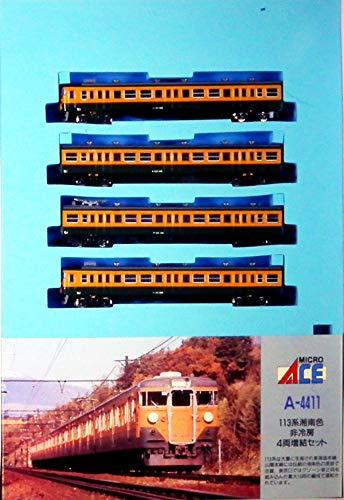 Nゲージ A4411 113系近郊形電車・湘南色 (非冷房) 4両セットM付
