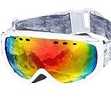 PONTAPES(ポンタペス) スノーボード ゴーグル 全6色 メンズ レディース ダブルレンズ Revo ミラーレンズ PNP-781 WHT/P_WHT/RED スキーゴーグル スキー スノー用ゴーグル スノーゴーグル スノー ゴーグル スノボ スノボー スノーボードゴーグル ダブル レンズ ミラー レンズ