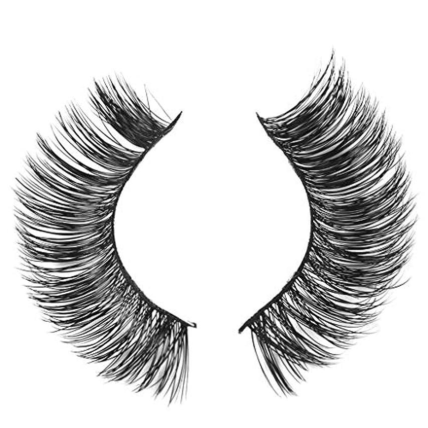 執着添付崩壊ミンクの毛の自然な厚くなる化粧品の3D版のための一組のまつげ