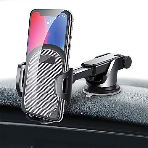 車載ホルダー Dinines【最新版】車 スマホホルダー オートホールド式 吸盤式 エアコン吹出し口用も付属 伸縮アーム 長さ・角度調整可能 カーホルダー 携帯 スマホスタンド iPhone XR/XS/XS Max/X/8/8plus/7/7plus/6/6plus Sony/Huawei/Samsung Galaxyなど対応 3~7インチ機種対応 スマートフォンホルダー