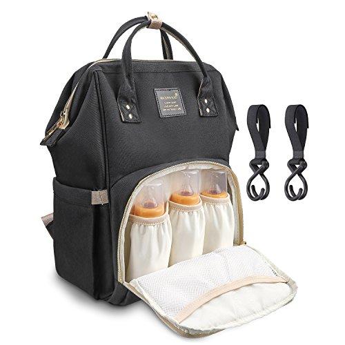 Yiwalabマザーズバッグ 軽量大容量多機能防水バックパック 人気 おしゃれ シンプルなレジャー旅行のショルダーバッグ アウトドアパッケージ ハンドバッグブラック