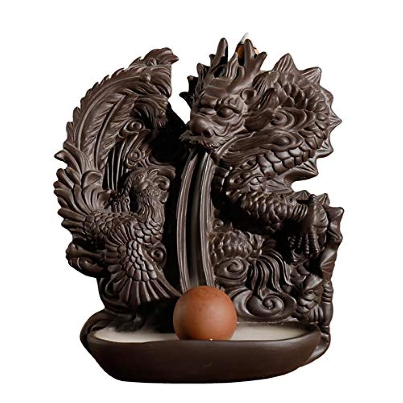 面倒翻訳者サイズドラゴン逆流香バーナー手作りセラミックドラゴン香ホルダービーズ香コーン理想的なギフト家の装飾