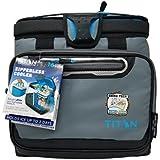 Titan Deep Freeze Zipperless Cooler Bag by Arctic Zone with Smart Bin - Gray 【Creative Arts】 [並行輸入品]