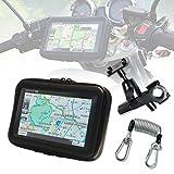 MAXWIN(マックスウィン) バイク用 ポータブルナビ バイク ナビ 7インチ 2016年地図 3年間地図更新無料 GPS オービス 防水 ケース ステー 落下防止 ケーブル ストラップ セット NV-A004A-SET1 NV-A004A-...
