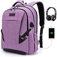 Tzowla Travel Laptop Backpack Anti-Theft Water Resistant Business Backpack TSA Lock & USB Charging Port TSA Friendly Computer Backpack Men Women College School Bag Fit 16 inch Laptops… (Purple)
