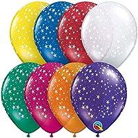 "Qualatex 5"" stars-a-roundバルーン、ジュエルAssortment–パックof 100"
