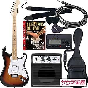 SELDER セルダー エレキギター ストラトキャスタータイプ サクラ楽器オリジナル ST-16M/SB 初心者入門リミテッドセット