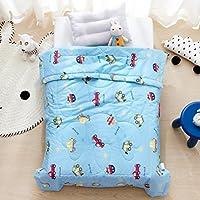 LIFEREVO Cotton Baby Toddler Blanket Spring Summer Quilt Fancy Cartoon Print Lightweight 43x60 Cow [並行輸入品]