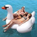 大きい 浮き輪 特大 ボート フロート ジャンボ 海 プール 白い鳥フロート 特大浮き輪 ホワイト 2/3人用 150cm ビックサイズ 大人用 超可愛い 大型浮輪 188*175*115CMCM