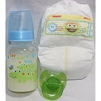 Reborn Baby Dolls OOAK Boy Fake Faux Formula Milk Bottle Diaper Putty Pacifier