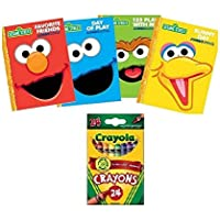 Sesame Street Coloring and Activity Books w /クレヨン