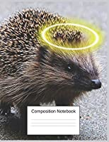 Composition Notebook: Hedgehog Gifts For Little Girls And Boys Charming Adorable Notebook
