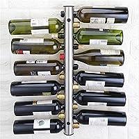 創造的な金属のステンレス鋼の壁に取り付けられたワイン・ボトルのホールダーの家の装飾のために独特なワインの棚のホールダー,12bottles