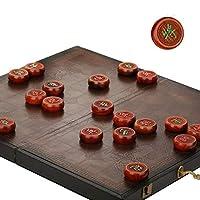 中国のチェスセット、折りたたみボードを持つ2人用の木製初心者の伝統的な卓上ボードゲーム