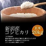 【敬老の日プレゼント】新潟産コシヒカリ 玄米 20kg(10kg×2袋)/冷めても美味しい新潟米