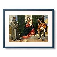 ティツィアーノ・ヴェチェッリオ Tiziano Vecellio 「パドヴァの聖アントニオ,聖ロクスと聖母子」 額装アート作品