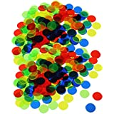 BAOBLADE 200Pcs Plastic 19mm Bingo Chips Markers for Bingo Game Poker Cards Kids Counters Toys Christmas Gift Mixed Color