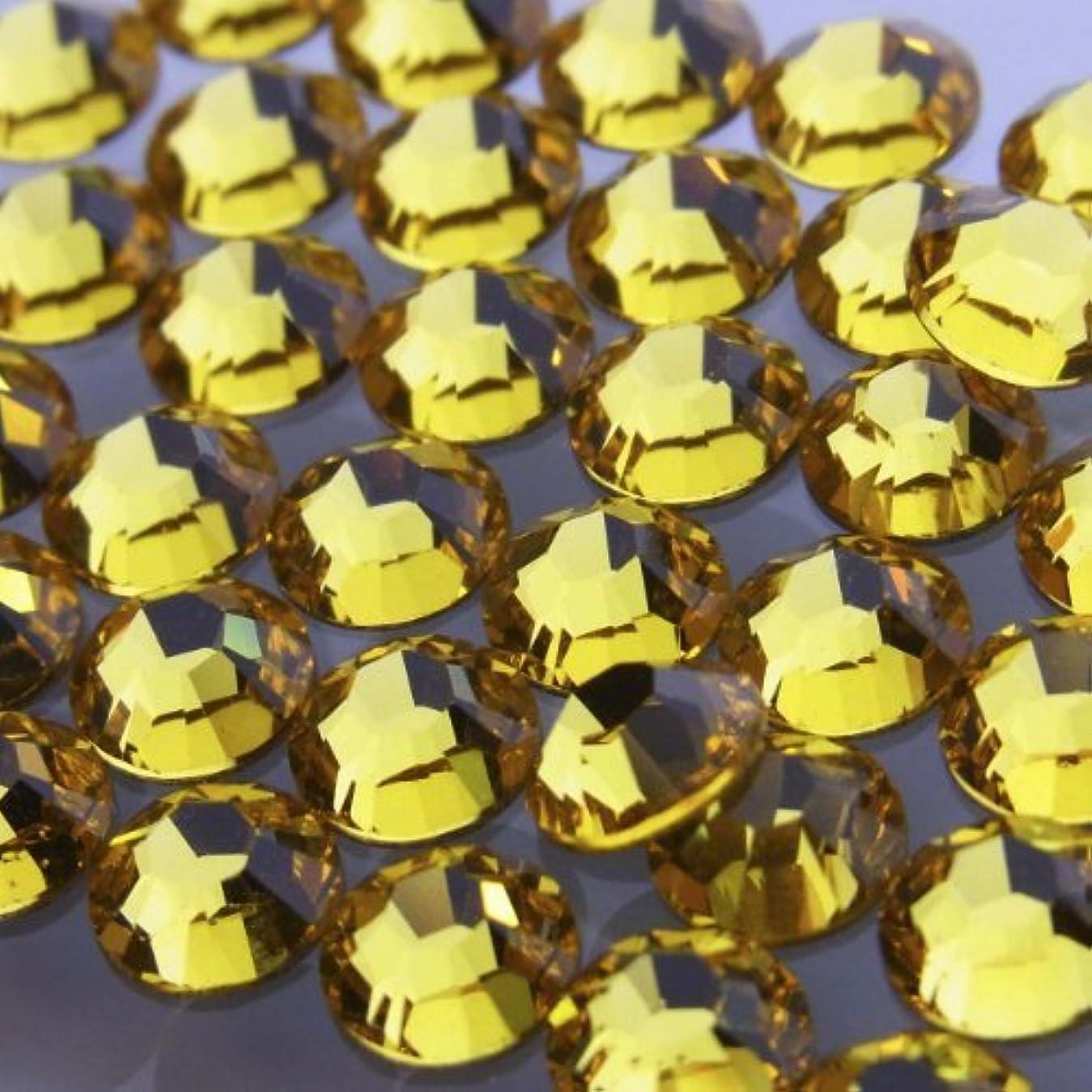 電化するまばたきカッター2028ライトトパーズss20(100粒入り)スワロフスキーラインストーン(nohotfix)
