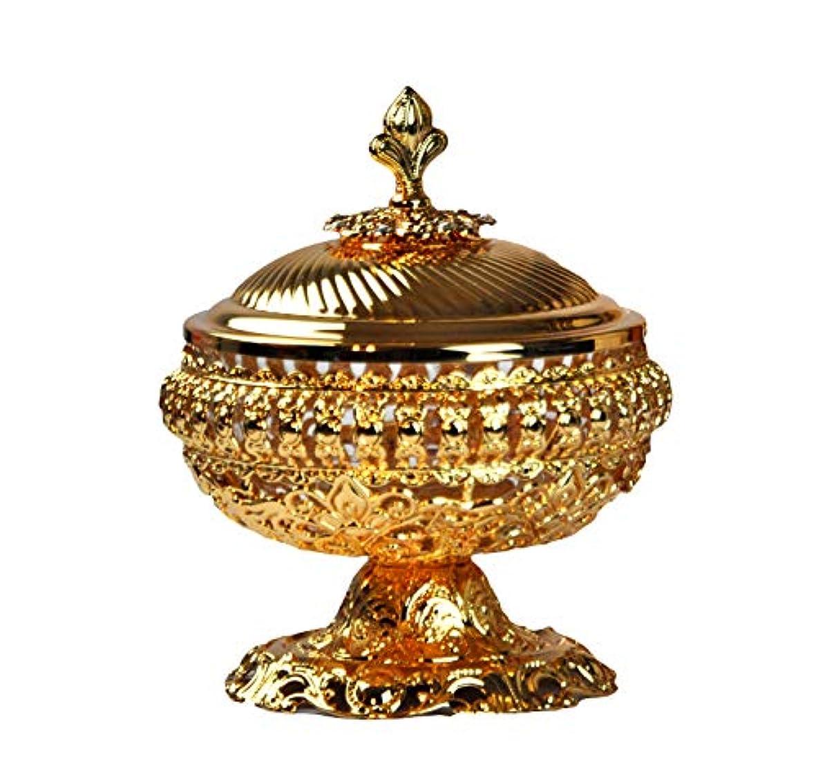 バスルーム放映司書Decorative Bowl to keep hold整理Arabia Bakhoor、チャコール、Oudチップ、Oud Wood、Oudhタブレット、 9inc. シルバー