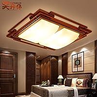 yposion新しい中国天井ライト木製中国のリビングルームベッドルームライト、暖かい長方形ライトスタディ日本語レストラン620590150MMライト、