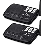 Hosmart 1/2 Mile LONG RANGE 7-Channel Security Wireless Intercom System for Home or Office (2017 New vesion)[2 Stations Black]