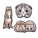 ワッペン 猫 アップリケ アイロン 刺繍 アイロン接着 刺繍ワッペン 可愛い 幼稚園 保育園 お祝いギフト 3枚セット