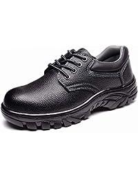 安全靴 作業靴 メンズ レディース ローカット ワークブーツ 厨房シューズ 料理靴 セーフティシューズ 先芯入り 耐油 耐滑 耐衝撃 耐摩耗 防水 通気性抜群 撥水加工 防汚 軽量 黒 22.5~28.0cm