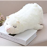 HuaQingPiJu-JP 30センチメートル高さ快適な羊のプッシュプッシュ玩具デザインソフトぬいぐるみ丈夫なぬいぐるみ子供ギフト(ホワイト)