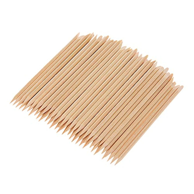 怠フレームワーク緑Decdeal マニキュアペディキュアツール 100ピース ネイルアート 木材 スティック 木製 使い捨て
